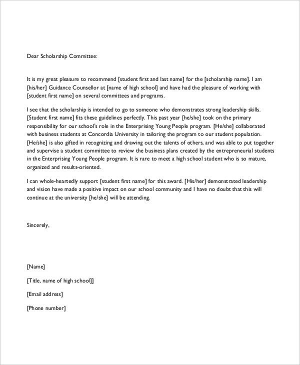 School reference letter template 7 free word pdf documents high school reference letter template spiritdancerdesigns Gallery