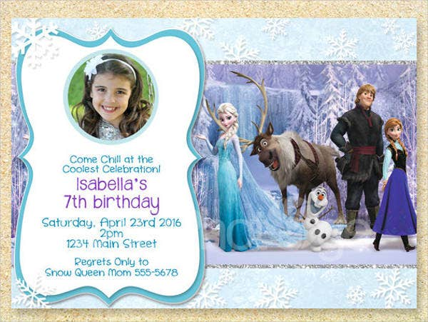 frozen birthday layout template