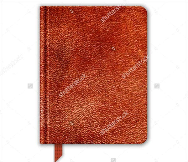 Natural Leather Journal Cover Design