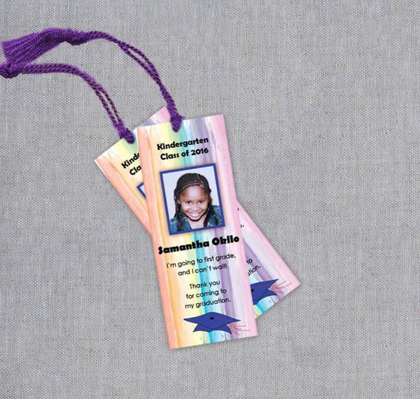 kindergarten graduation bookmarks template