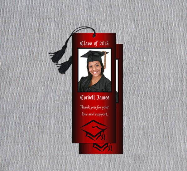 graduation photo bookmark template