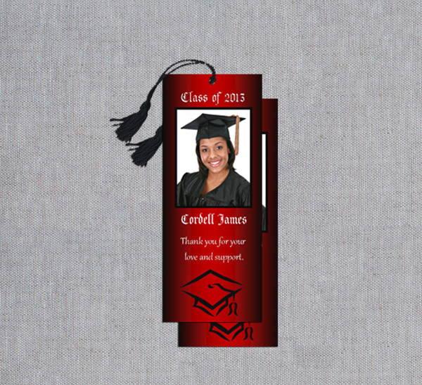 graduation photo bookmark template