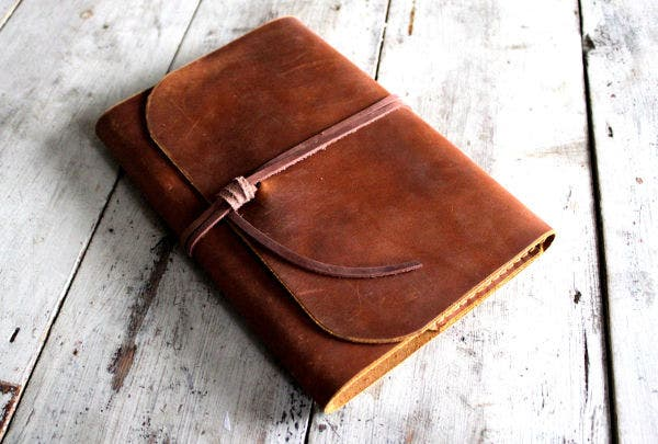 refillable journal cover design