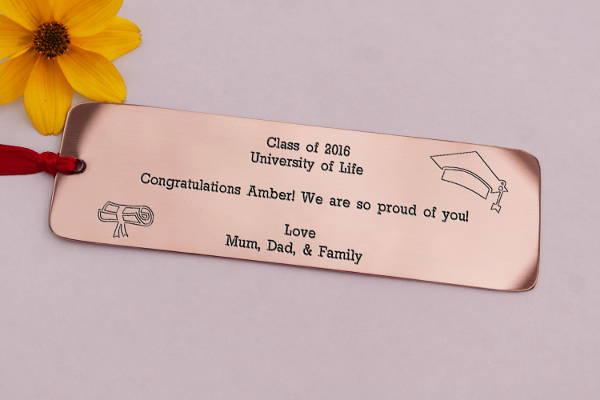 graduation gift custom bookmark template