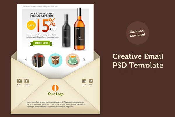 email newsletter layout design