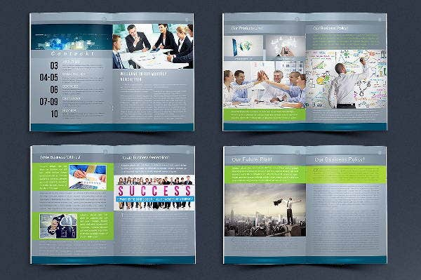 business newsletter layout template