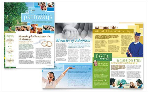 church newsletter layout design