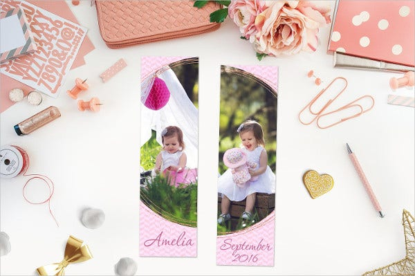 kid picture bookmark template