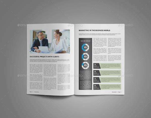 corporate newsletter layout template
