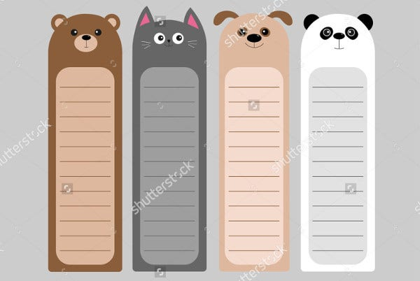 Animal Bookmark Template For Kids
