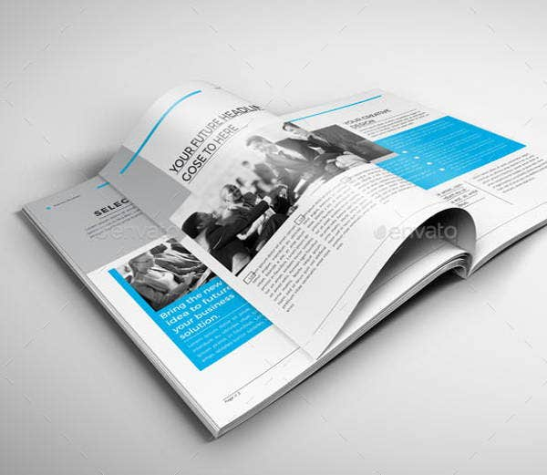 finance newsletter layout design