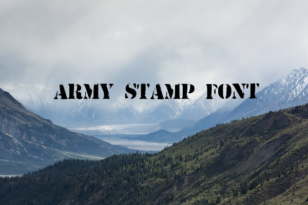 army stamp font2
