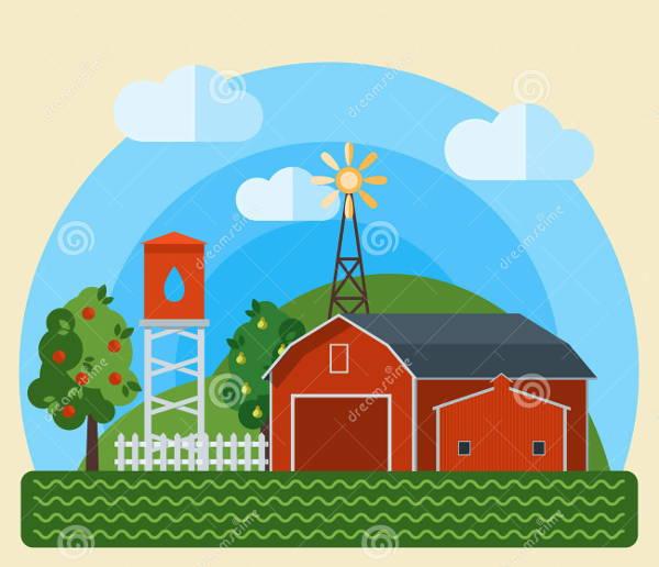 farm-house-vector