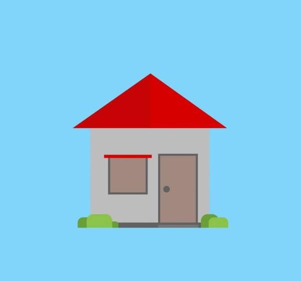 flat design house vector