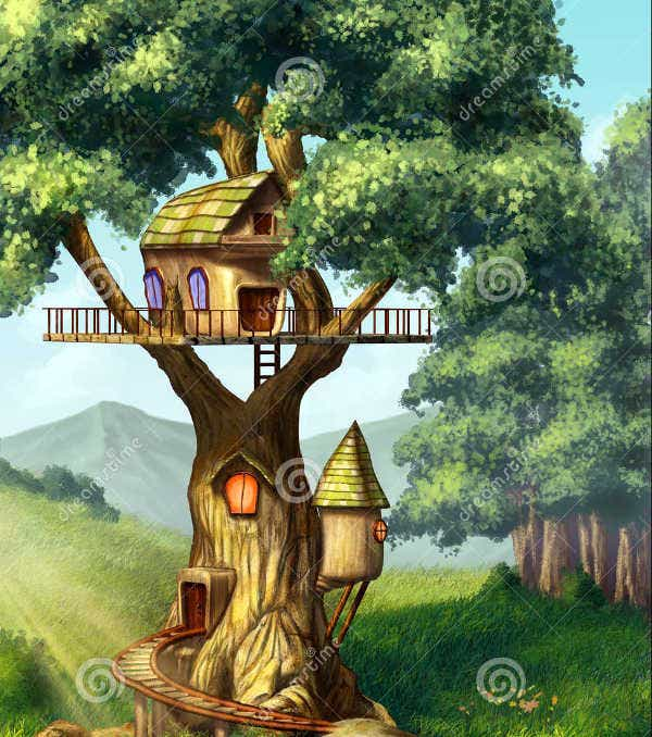 Tree House Illustration