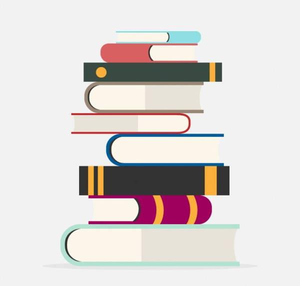 book-pile-vector