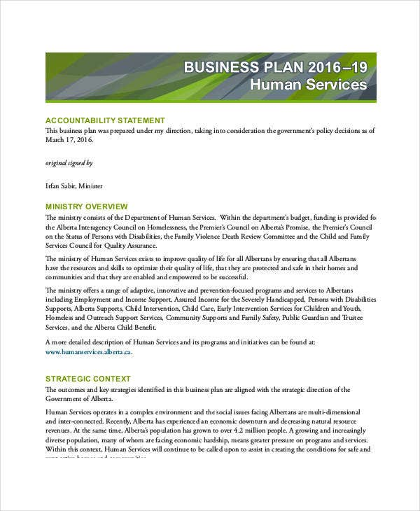 basic service business plan template