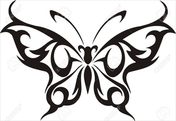 tribal butterfly vector illustration