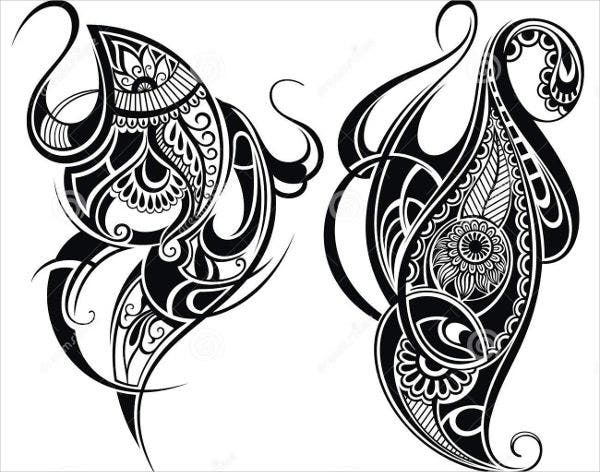 black and white tribal illustration