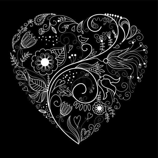 black-and-white-heart-illustration