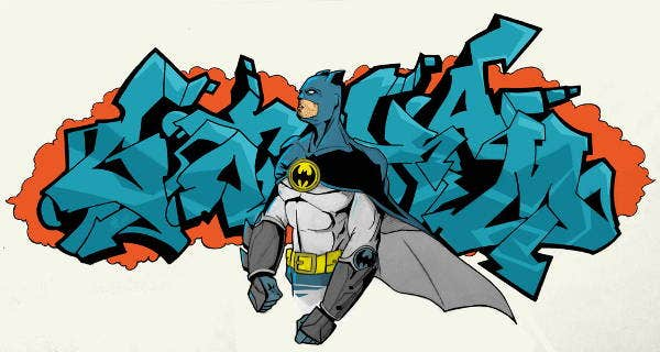 batman graffiti illustration