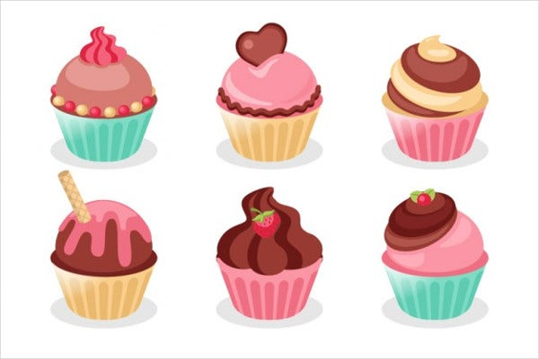 Vector Cupcake Illustration