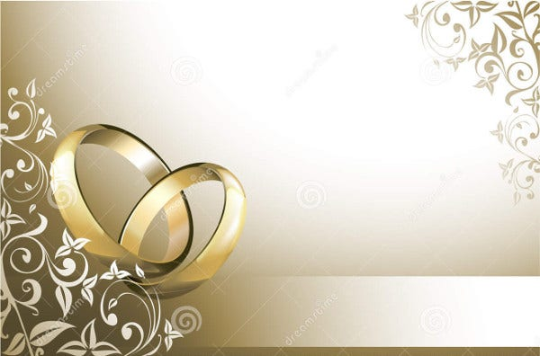 Blank Wedding Card 8 Free PSD EPS Vector Free Premium Templates
