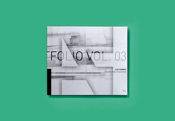 architectural portfolio cover design