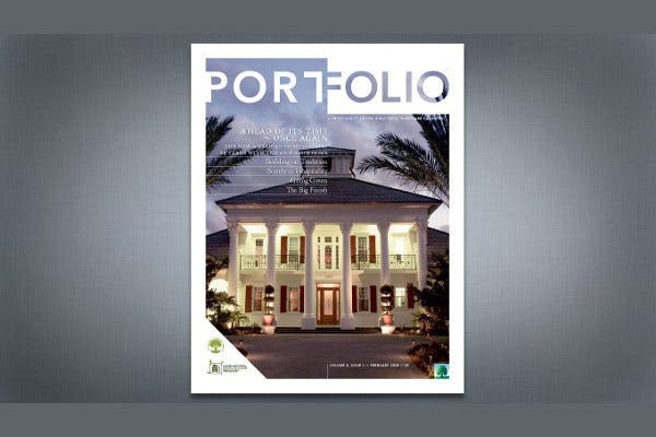 portfolio magazine cover design