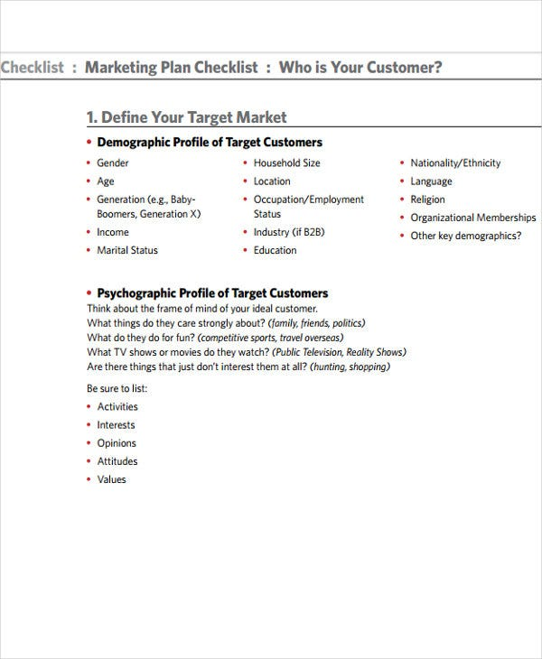marketing event to do list template
