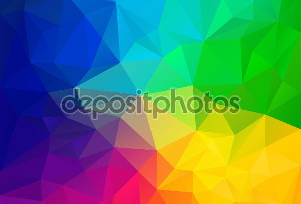 rainbow triangular pattern