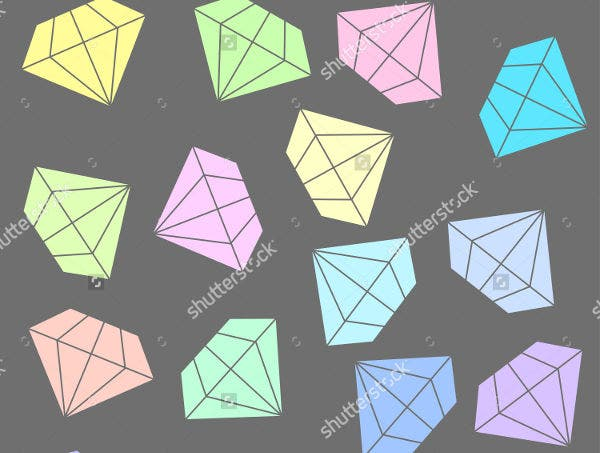 Pastel Colored Diamond Pattern