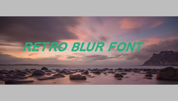 retro-blur-font