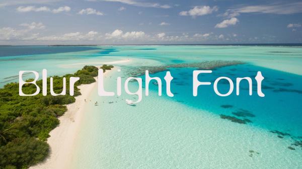 blur-light-font