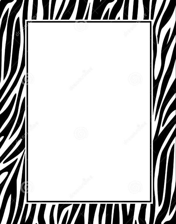 Zebra Border Pattern