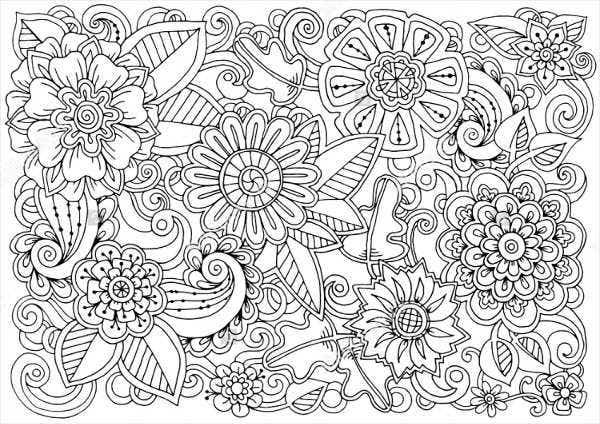 Ornate Flowers on Zebra Pattern