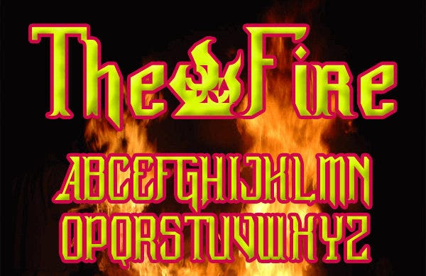 gothic fire font1