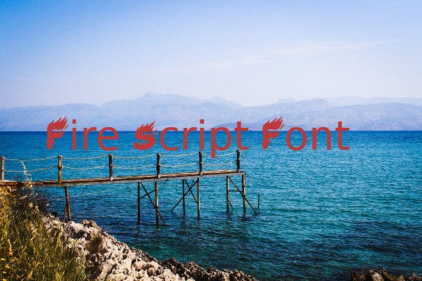 fire-script-font