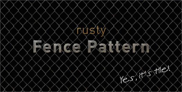 rusty fence patterns