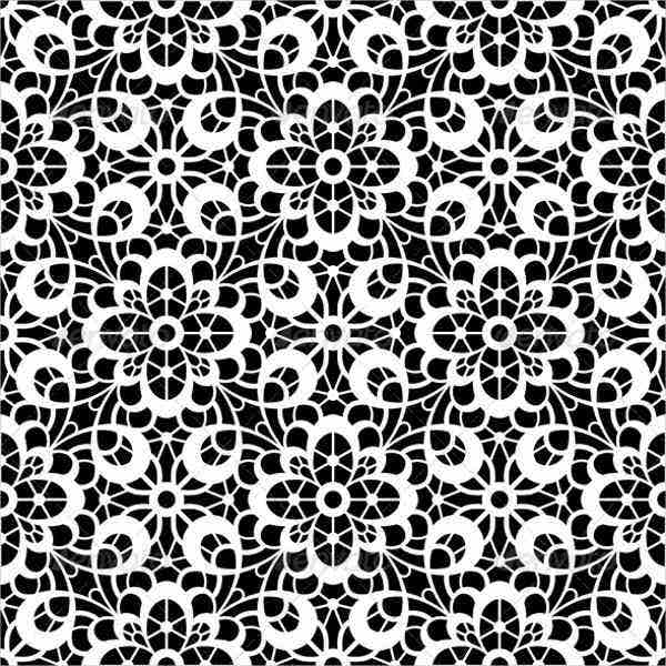 black and white lace patterns