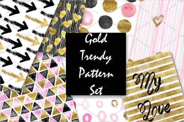 golden glitter patterns