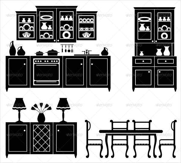 Kitchen Furniture Icon