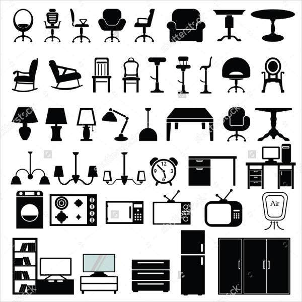 Modern Furniture Icon Vector