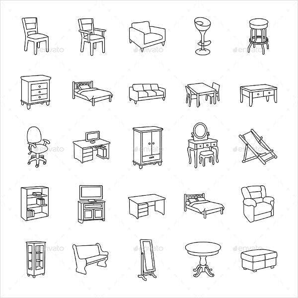 furniture outline icon