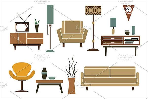 Retro Furniture Icon