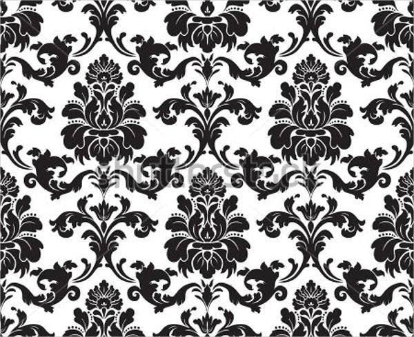 black-and-white-damask-pattern