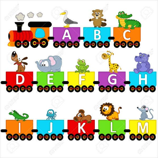 Alphabet Cartoon Vector