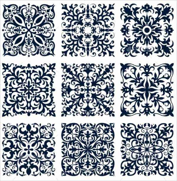mosaic-tile-damask-pattern