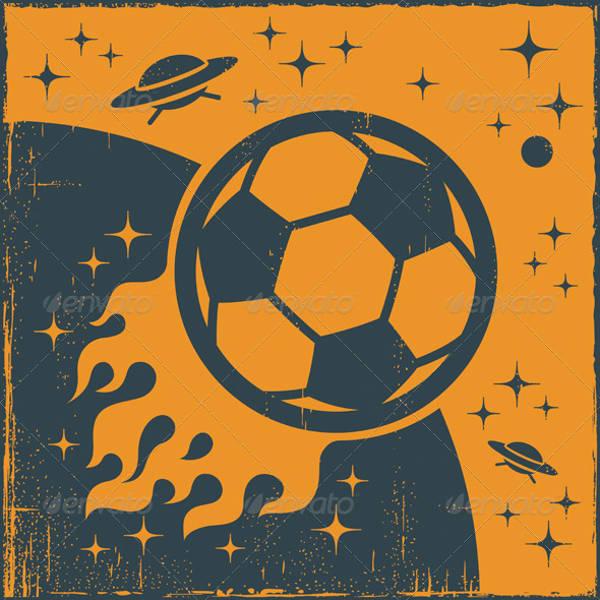 vintage football icon