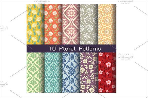 floral colorful damask pattern